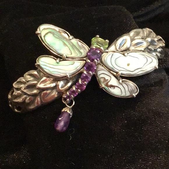 Jewelry - Abalone shell Dragonfly Cuff bracelet